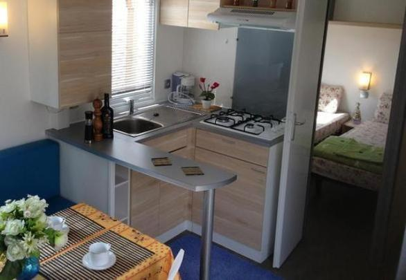 Marino Mobil Home аренда, Port Grimaud, camping Les prairies de la mer,готовка
